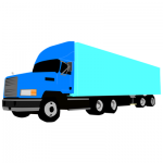 large truck for transporting goods clipart