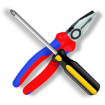 screwdriver and pliers clip art